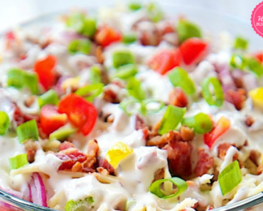 This CHICKEN BACON RANCH LAYER SALAD